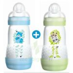 MAM BIBERON EASY START anti-colique 260 ml lot de 2_ BLEU & VERT à Pessac