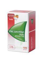 Nicorette 2 mg Gomme à mâcher médicamenteuse sans sucre fruits Plq/105 à Pessac