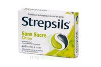 STREPSILS CITRON SANS SUCRE, pastille édulcorée à l'isomalt, au maltitol et à la saccharine sodique à Pessac