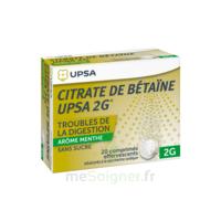 Citrate de Bétaïne UPSA 2 g Comprimés effervescents sans sucre menthe édulcoré à la saccharine sodique T/20 à Pessac