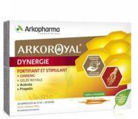 Arkoroyal Dynergie Ginseng Gelée royale Propolis Solution buvable 20 Ampoules/10ml à Pessac