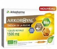 Arkoroyal Gelée royale bio sans sucre 1500mg Solution buvable 20 Ampoules/10ml à Pessac