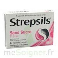 Strepsils Fraise Sans Sucre, Pastille édulcorée à L'isomalt, Au Maltitol Et à La Saccharine Sodique à Pessac