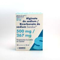 ALGINATE DE SODIUM/BICARBONATE DE SODIUM SANDOZ 500 mg/267 mg, suspension buvable en sachet à Pessac