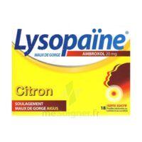 LYSOPAÏNE MAUX DE GORGE AMBROXOL CITRON 20 mg SANS SUCRE, pastille édulcorée au sorbitol et au sucralose à Pessac