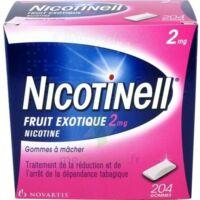 NICOTINELL FRUIT EXOTIQUE 2 mg, gomme à mâcher médicamenteuse Plq/204 à Pessac