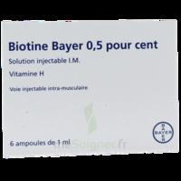 BIOTINE BAYER 0,5 POUR CENT, solution injectable I.M. à Pessac