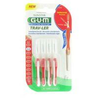 Gum Trav-ler 4 Brossettes Rouge Interdentaires 0.8mm à Pessac