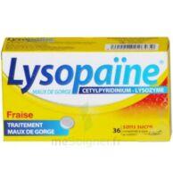 LYSOPAÏNE MAUX DE GORGE CETYLPYRIDINIUM LYSOZYME FRAISE SANS SUCRE, comprimé à sucer édulcoré au sorbitol et à la saccharine à Pessac