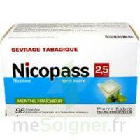 NICOPASS 2,5 mg Past menthe fraîcheur sans sucre Plq/96 à Pessac