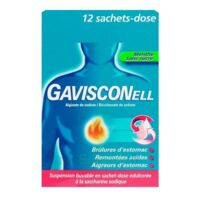GAVISCONELL Suspension buvable sachet-dose menthe sans sucre 12Sach/10ml à Pessac