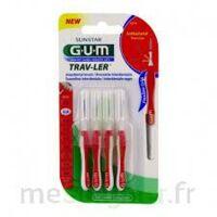Gum Trav - Ler, 0,8 Mm, Manche Rouge , Blister 4 à Pessac