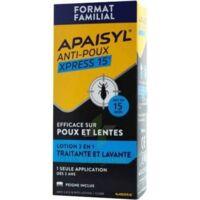 Apaisyl Anti-poux Xpress 15' Lotion antipoux et lente 100ml+peigne à Pessac
