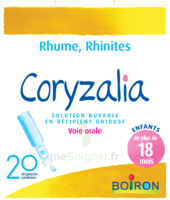 Boiron Coryzalia Solution buvable unidose B/20 à Pessac