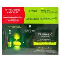 René Furterer Triphasic Progressive Sérum Antichute Coffret 8 Flacons X 5,5ml + Shampoing Stimulant 100 Ml à Pessac