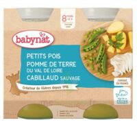 Babynat Pot Petits Pois Pomme De Terre Cabillaud à Pessac